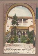 CPA ESPAGNE - GENERALIFE - Patio De La Acequia - TB  PLAN Jardins + TB Oblitération Verso 1904 - Granada
