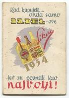BADEL, Beverage Factory - Zagreb Croatia, Old Pocket Calendar 1954. - Calendriers