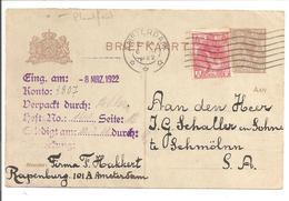 Bontkraag Enkelfrankering 5 Cent  N.V.P.H. 60P Plaatfout.Bijfrankering Op Briefkaart - Covers & Documents