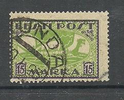 ESTLAND Estonia 1922 O KUNDA Michel 23 A Wiking Ship NB! Thinned Corner! - Estonia