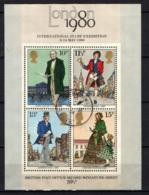 """GRAN BRETAGNA - 1980 - """"LONDON 1980"""" - ESPOSIZIONE FILATELICA INTERNAZIONALE - FOGLIETTO - SOUVENIR SHEET - USATO - 1952-.... (Elisabetta II)"""