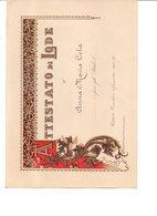 CINQUE ATTESTATI DI LODE PER GLI STUDI 1931/32-1932/33-1933/34-1935/36-1938/39 - Diplomas Y Calificaciones Escolares