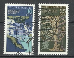 Germany DDR 1977 Michel 2203 & 2205 Naturdenkmäler Nature Preservation O - Umweltschutz Und Klima