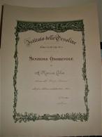 IST.ORSOLINE COMO ASSEGNAZIONE MENZIONE ONOREVOLE 1934/35 - Diplomas Y Calificaciones Escolares