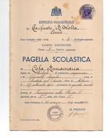REGNO D'ITALIA PAGELLA SCOLASTICA ANNO 1938/1939 ISTITUTI NON REGI AUTORIZZATI - Diplomi E Pagelle