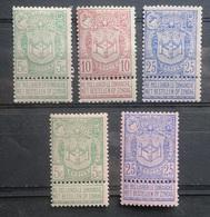 BELGIE  1894    Nr. 68 - 70 / 68 A - 70 A   Licht Spoor Van Scharnier *     CW  19,00 - 1894-1896 Ausstellungen