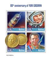 Maldives  2019  Yuri Gagarin  ,space   S201904 - Maldives (1965-...)