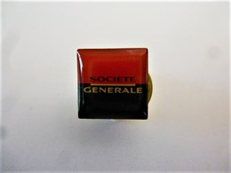 PINS BANQUES SOCIETE GENERALE Logo Petit Modèle / 33NAT - Banques