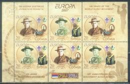 SRB 2007-196-7 EUROPA CEPT, SERBIEN, Klbg II, ** - Europa-CEPT