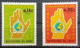 DE22 - Zaire 1973 Complete Set 2v. MNH - INTERPOL Police - Zaire
