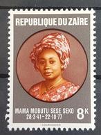 DE22 - Zaire 1977 MNH Stamp - MAMA MOBUTU SESE SEKO - Zaire