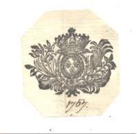 Armoiries, Blason  Daté De 1757 ( Sur Papier Certainement D'origine )  (fr81) - Documents Historiques