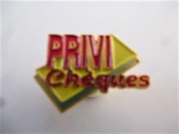 PINS Banques PRIVI Chèques  / 33NAT - Banks
