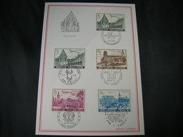 """BELG.1973 1662-1665 FDC Filateliacard : """"Culture : Abdijen/Abbeys Gent Heverlee Floreffe Lobbes """" - 1971-80"""