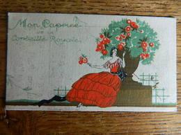 CARTE PARFUMEE +CALENDRIER 1929 :MON CAPRICE DE LA CORBEILLE ROYALE-AUX MILLE PARFUMS MAISON PAUL REPS-R.DU PONT WAVRE - Cartes Parfumées