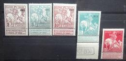 BELGIE  1911    Nr. 94 - 96 - 98 - 97 En 99  Postfris **   Nr. 94 Met Boven Speldeprikje     CW  1480,00 - 1910-1911 Caritas