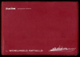 BOOK FOTOGRAFICO NAVIGAZIONE ITALIA LA T/N MICHELANGELO - RAFFAELLO 54 FOTO - Barche