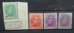 BELGIE  1914    Nr.  129 - 131 A     Scharnier *    CW 40,50 - 1914-1915 Croix-Rouge