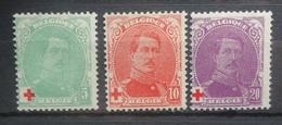 BELGIE  1914    Nr.  129 - 131      Scharnier *    CW  21,00 - 1914-1915 Croix-Rouge