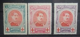BELGIE  1915     Nr.  132 - 134   Scharnier *   CW  100,00 - 1915-1920 Albert I.
