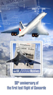 Maldives  2019  Concorde ,airplane    S201904 - Maldives (1965-...)