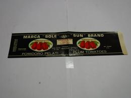 LIVORNO  -- MARCA  SOLE  -- POMIDORO PELATI --  POMODORO  --- CONSERVE ALIMENTARI -- - Italie