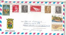 CANARIAS SOBRE TURISTICO CC MASPALOMAS CANGREJO AVION PAPEL ORIGAMI FAAUNA MAPA - 1931-Hoy: 2ª República - ... Juan Carlos I