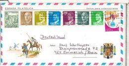 QUIJOTE SOBRE TURISTICO CC SELLOS PUENTE RONDA BRIDGE ENERGIA - 1981-90 Cartas