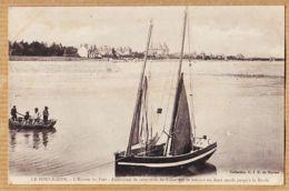 X44019 LE POULIGUEN Entrée Du Port Panorama Série De Villas En Demi-Cercle Jusqu'à LA BAULE 1910s G.I.D - Le Pouliguen