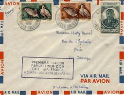 1961 - 1ère Liaison Par JETLINER  D C 8  Nouméa-Los Angeles - Paris - Briefe U. Dokumente