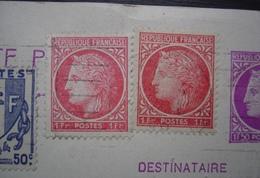 1946 2 Couleurs Du N°676 Complément D'affranchissement Sur Carte Pour Le Luxembourg (Dudelange) De Théodore Champion - Postmark Collection (Covers)