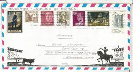 TOROS SOBRE TURISTICO SELLOS ARTE PINTURA CID ARQUITECTURA ROMA ARCO DE BARA - 1931-Hoy: 2ª República - ... Juan Carlos I