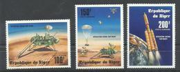 NIGER YVERT AEREO  276/78  MNH   ** - Níger (1960-...)