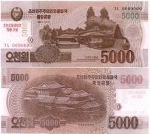 Korea North - 5000 Won 2013 / 2015 UNC 70 Years N. Korea Pick CS19 Serie 0000000 Lemberg-Zp - Korea (Nord-)