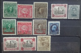 BELGIE  1920     Van  Nr.  179  Tot  189       Scharnier *    CW  16,50 - Belgien