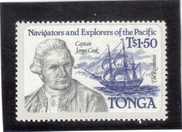 B4 - TONGA - PO 558 ** MNH De 1984 - Captain JAMES COOK Et RESOLUTION - - Tonga (1970-...)