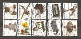 Belgique 2008 - Jouets D'enfants - Petit Lot De 10 Différents° Du Carnet C 89 - Avion - Tram - Auto - Poupée - Ourson - - Markenheftchen 1953-....