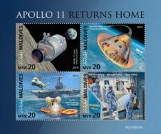 Maldives  2019    Apollo 11 Returns Home   ,space S201904 - Maldives (1965-...)