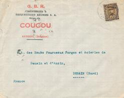 367/29 - Enveloppe TP Képi ANTOING 1934 Vers DENAIN  - Entete Cimenteries Briqueteries Réunies , C.B.R. Siège Du COUCOU - 1931-1934 Kepi