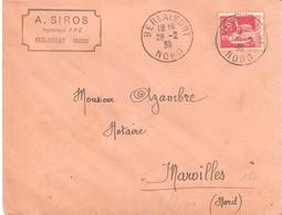 Nord :- BERLAIMONT Dateur Type A4 - Marcophilie (Lettres)