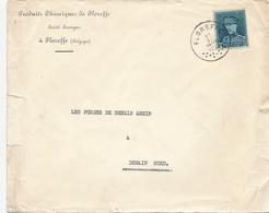 370/29 - Enveloppe TP Képi FLOREFFE 1933 Vers DENAIN Nord - Entete Produits Chimiques De Floreffe S.A. - 1931-1934 Mütze (Képi)
