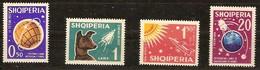 Albanie Albania 1962 Yvertn° 585-588 *** MNH  Cote 16,00 Euro Spoutnik Lunik Chien Laika - Albanie