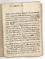 Antico Documento Manoscritto Datato 11 Settembre 1741 - Probabile Zona Trentino - Vedi Descrizione - (FDC16088) - Manoscritti