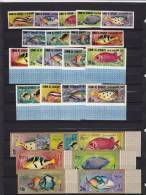 Umm Al-Qiwain 1967 Tropical Fish 17 Stamps IMPERFORATED,long Scarce Set-early Issue-SKRILL ONLY - Fishes
