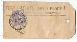 SEMEUSE 45C VIOLET SEUL U VERSO ETIQUETTE DE COLIS PARIS PERIODIQUES 23.1.1929 RARE - Marcophilie (Lettres)