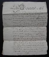 1779 Chizé, Poitou Saintonge Bail Pierre Benoît, à Jean Martin Et Madeleine Fort Son épouse, 8 Pages - Manuscrits