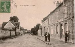 Cpa 60 MILLY-sur-THERAIN   La Poste , Animée , TBE - France