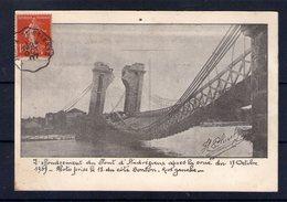 42. L'effondrement Du Pont D'andrézieux Après La Crus Du 17 Octobrre 1907. Photo Prise Coté Bonson - Andrézieux-Bouthéon