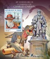 Niger 2019 Charles Darwin  Dinosaurs   S201904 - Niger (1960-...)