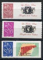 RC 13098 FRANCE N° 53A + 53C + 53D MARIANNE DE LAMOUCHE AUTOADHÉSIFS NEUF ** TB - France